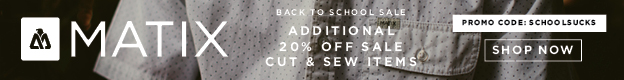 Shop Matix Back to School 20% Off Cut and Sew Items