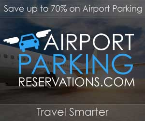 Medium banner link to the airportparkingreservations.com home page from where users can easily search for airport parking using airport, departure date and departure time drop downs.