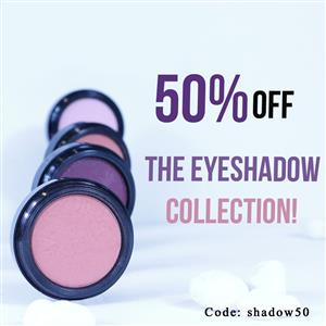 50% off the eyeshadow collection!