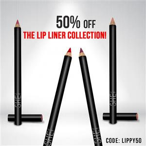 50% off the Lip liner collection!