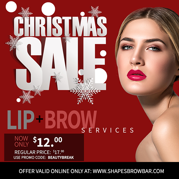 $12 Brow + Lip Threading Service!