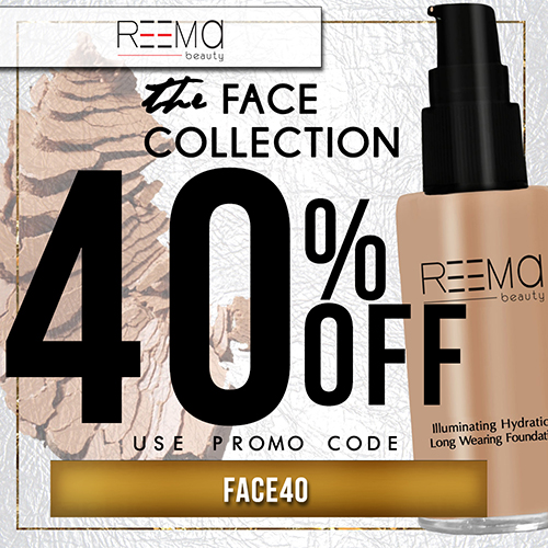 40% off the Face Collection!