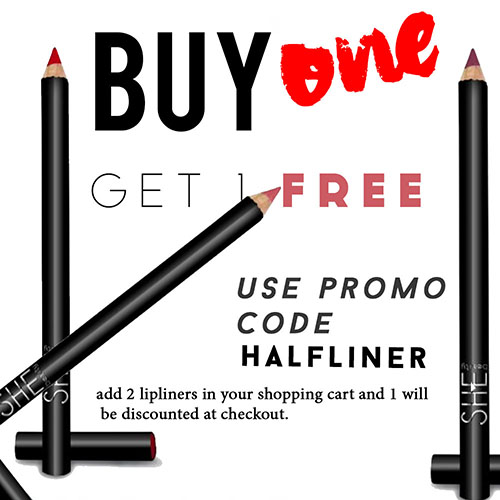 Buy 1 Lip Liner get 1 50% off