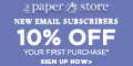 Save 10% on your first purchase from The Paper Store
