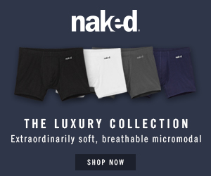 Naked. Luxury underwear for men.  Exceeding expectations, daily.