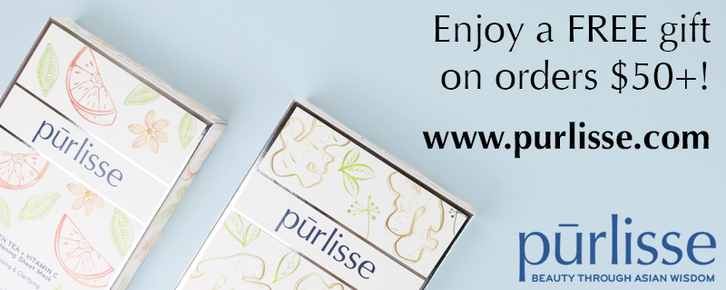 Get a Free Gift with purchases of $50+ at Purlisse.com