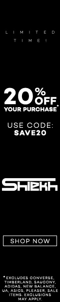 Save 20% Off with code SAVE20 at Shiekh.com!