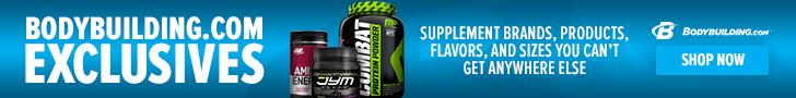 Bodybuilding.com Exclusive Brands 728 x 90