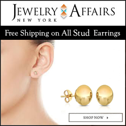 JewelryAffairs Gold Stud Earrings 250x250