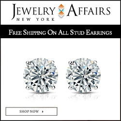 JewelryAffairs Diamond Stud Earrings 250x250