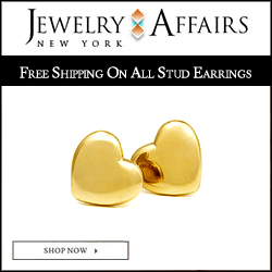 JewelryAffairs Heart Stud Earrings 250x250