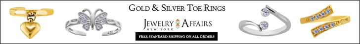 JewelryAffairs - Gold & Silver Toe Rings - 728x90