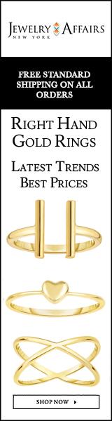 JewelryAffairs Yellow Gold Right hand Rings