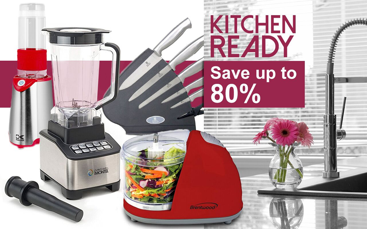 Save up to 80% off our kitchen appliances & must-have essentials!