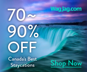 70% to 90% Off Canada's Best Staycations. Only at WagJag.
