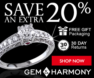 Gem & Harmony - Save 20% Sitewide!