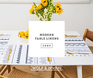 Wolf & Iving modern table linens