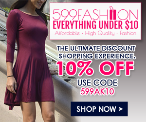 10% OFF Site Wide on 599fashion.com