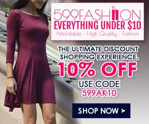 10% OFF Site Wide on 599fashion.com