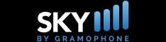 SKYbyGramophone logo 234x60 black background