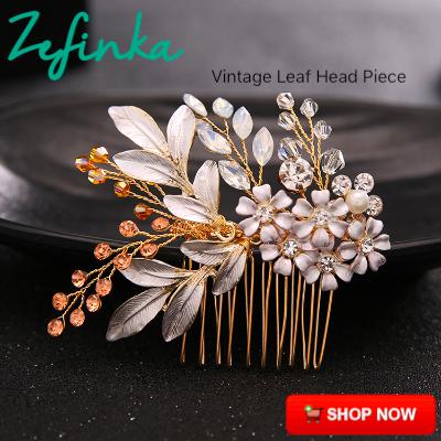 Vintage Head Piece Leaf Luxury