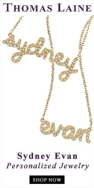 Shop Sydney Evan Personalized Diamond Jewelry at Thomas Laine Jewerly