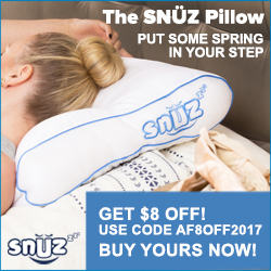 SNUZ Pillow- Put some spring back in your step!