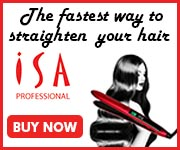 ISA Professional Titanium Flat Iron 180 by 150 banner