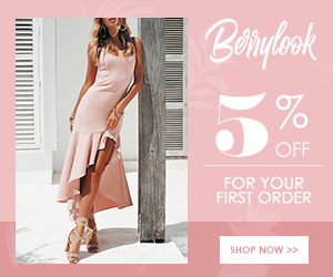 5% Off For The First Order at Berrylook! Buy Now!