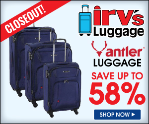 Save up to 58% off Antler Airstream Luggage!