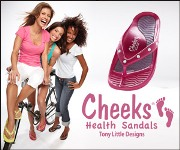 "Tony Little's Cheeksâ""¢ Health Sandals with Rhinestones"