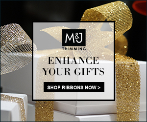 Enhance your gifts with beautiful ribbons from M&J Trimming!