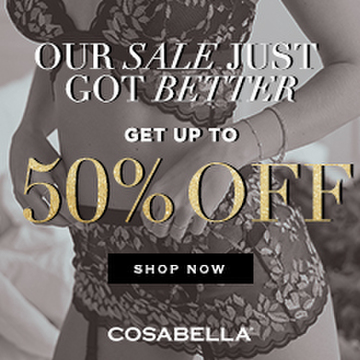 Cosabella Up To 50% Year End Sale 250x250 banner