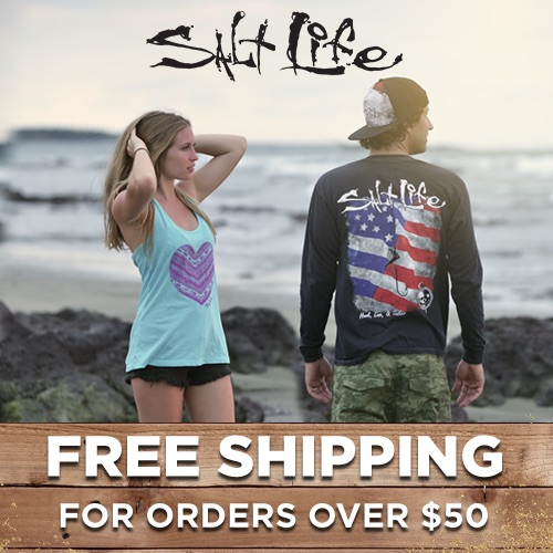 Shop Salt Life and Receive Free Shipping On Orders Over $50