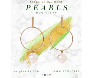 Steal of the Week: $14.99 Pearl Earrings