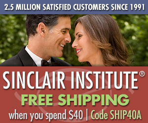 Free Shipping at Sinclair Institute