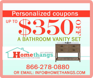 up to $350 off a bathroom vanity set!