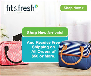 Shop Fit & Fresh's New Arrivals Today and Receive Free Shipping  on  All Orders of $50 or More.