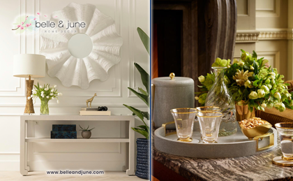 The Interior Designer's Top Shop for luxury home decor, furniture, tableware and gifts. Shop www.belleandjune.com