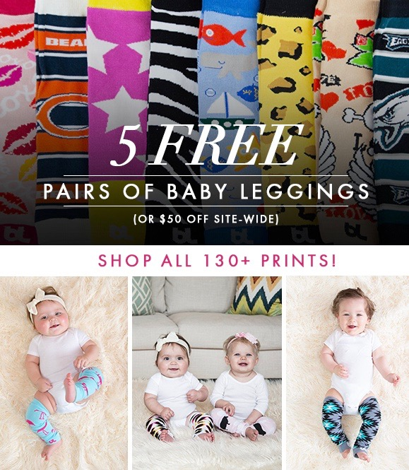 Get 5 FREE Baby Leggings with code PJBABY!
