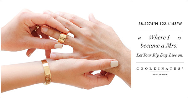 Shop the Coordinates Collection Bridal Guide