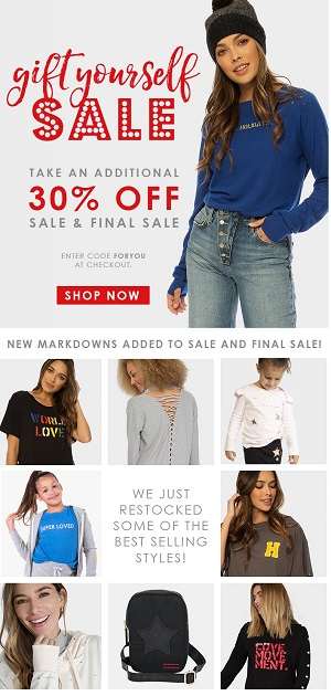 Save An Additional 30% OFF SALE Using Code: FORYOU At PeaceLoveWorld.com!