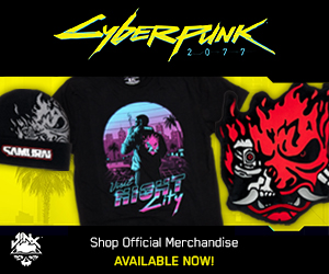 Get exclusive Cyberpunk 2077 Merchandise at J!NX