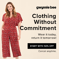 Get 50% off your first month at Gwynnie Bee. No code needed.
