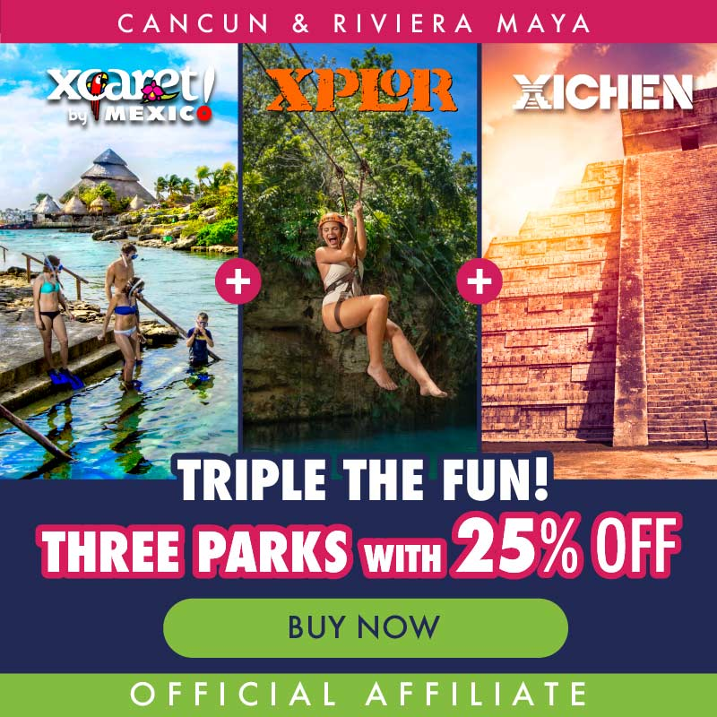 Xcaret+ Xichen+ Xplor Combo package