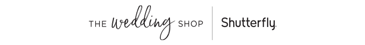 The Wedding Shop by Shutterfly Logo 728x90