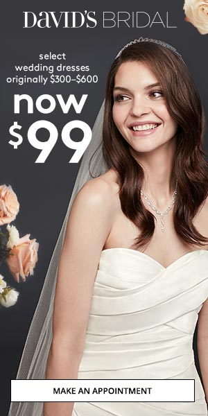 Make an Appointment at David's Bridal Today!