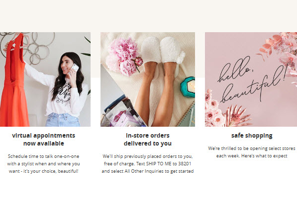 David's Bridal Updated Footer