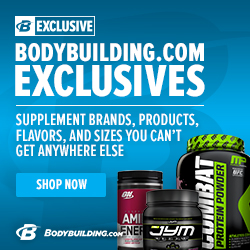 Bodybuilding.com Exclusive Brands 250 x 250