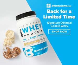 NEW Flavor! Oatmeal Cookie Signature Whey Protein Now Available at Bodybuilding.com!